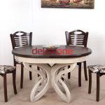 Yuvarlak Ahşap Yemek Masası Modelleri 6