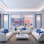 dikdortgen salon dekorasyon fikirleri 1