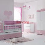 pembe tonlarda bebek odasi dekorasyonu 2
