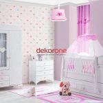 pembe tonlarda bebek odasi dekorasyonu 3