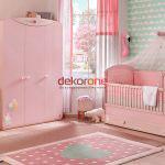pembe tonlarda bebek odasi dekorasyonu 5