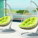 Dekoratif bahce mobilyalari- Tek kisilik bahce salincagi