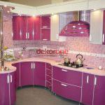 Fusya Rengi Mutfak Dekorasyonu 1