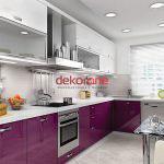 Fusya Rengi Mutfak Dekorasyonu 3
