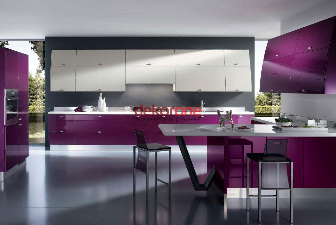 Fusya Rengi Mutfak Dekorasyonu 4