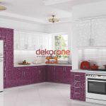 Fusya Rengi Mutfak Dekorasyonu 5