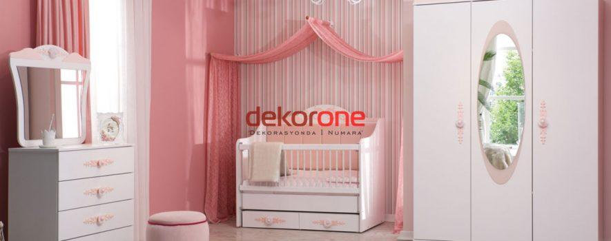 Eflatun Modern Bebek Odası Dekorasyon Tasarımları