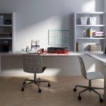 Home Ofis Beyaz Çalışma Odası Dekorasyonu