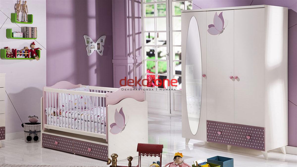 Mor Renk Kız Bebek Odası Dekorasyon Fikirleri
