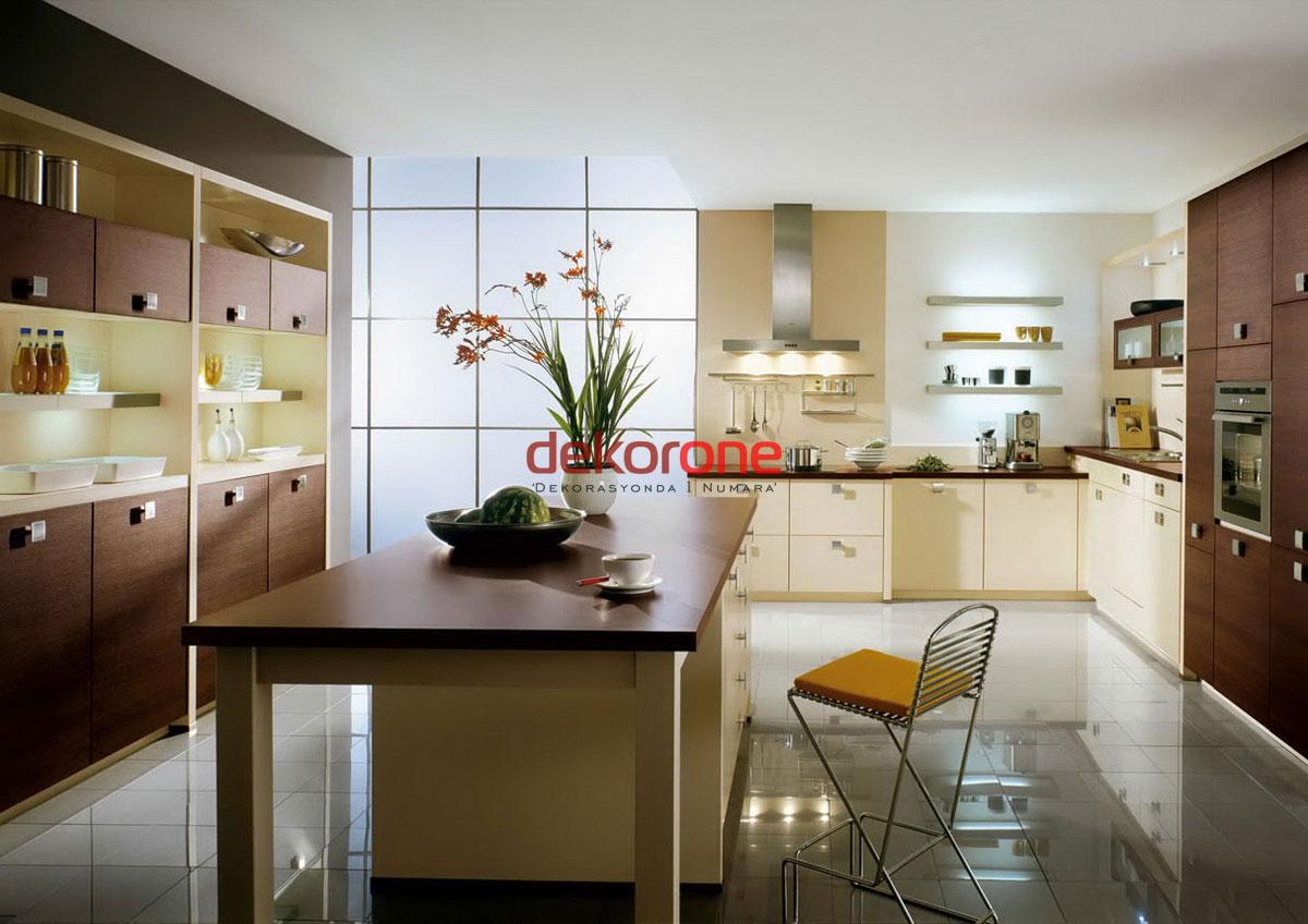 Geniş Mutfaklar için Dekoratif Fikirleri