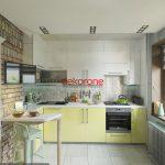 Sarı Renk Minimalist Mutfak Dekorasyonu Fikirleri