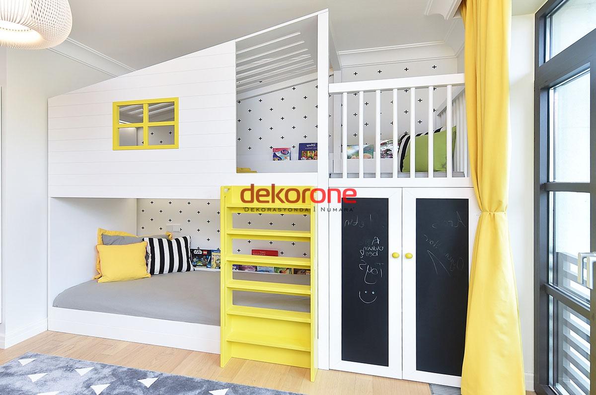 Sarı Yatak Odası Çocuk Oyun Alanı